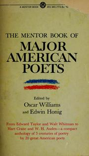 Cover of: The mentor book of major American poets