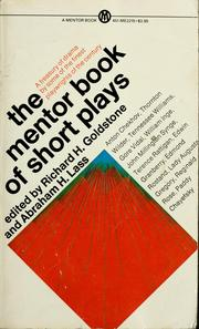 Cover of: The Mentor book of short plays | Richard Henry Goldstone