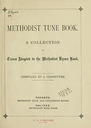 Cover of: Methodist tune book |