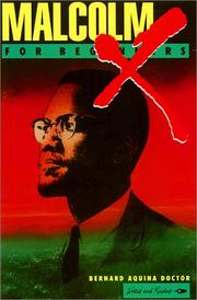 Cover of: Malcolm X for Beginners (Writers and Readers) | Bernard Aquina Doctor