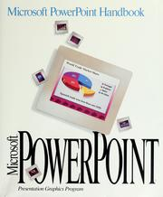 Cover of: Microsoft PowerPoint handbook | Microsoft Corporation.