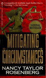 Cover of: Mitigating circumstances | Nancy Taylor Rosenberg