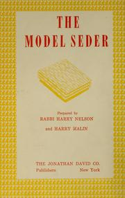 Cover of: The model Seder by Jews.