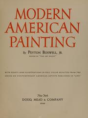 Cover of: Modern American painting | Boswell, Peyton