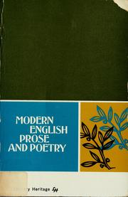 Cover of: Modern English prose and poetry by Nelda B. Kubat
