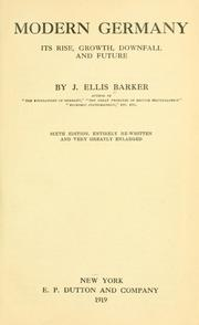 Cover of: Modern Germany | Barker, J. Ellis