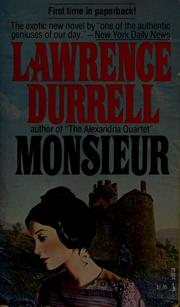Cover of: Monsieur | Lawrence Durrell