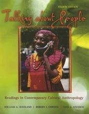 Cover of: Talking about people:  readings in cultural anthropology