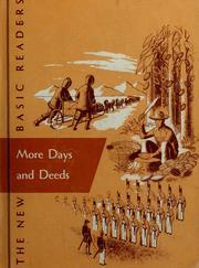 Cover of: More days and deeds by Gray, William S.