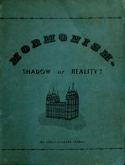 Cover of: Mormonism -shadow or reality? | Jerald Tanner