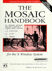 Cover of: The Mosaic handbook for the X Window System | Dale Dougherty