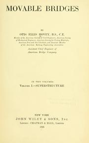 Cover of: Movables bridges | Otis Ellis Hovey