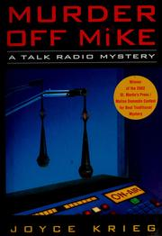 Cover of: Murder off mike | Joyce Krieg
