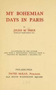 Cover of: My Bohemian days in Paris. | Julius M. Price