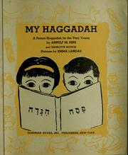 Cover of: My Haggadah | Arnulf M. Pins
