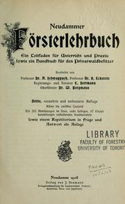 Cover of: Neudammer Försterlehrbuch
