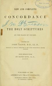 Cover of: new and complete concordance to the Holy Scriptures | Alexander Cruden