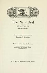 Cover of: The New Deal, revolution or evolution?
