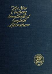 Cover of: The New Century handbook of English literature | edited by Clarence L. Barnhart, with the assistance of William D. Halsey.