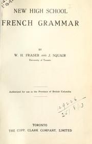 Cover of: New High School French Grammar | W. H. Fraser
