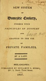 Cover of: new system of domestic cookery | Maria Eliza Ketelby Rundell