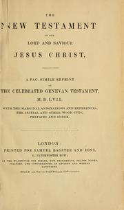 Cover of: The New Testament of our Lord and Saviour Jesus Christ | with the original and other woodcuts.