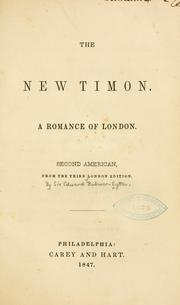 Cover of: new Timon. | Edward Bulwer Lytton