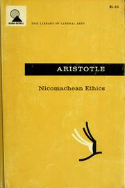 Cover of: Nicomachean ethics. |