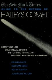 Cover of: The New York times guide to the return of Halley
