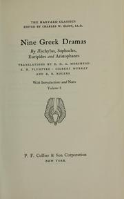 Cover of: Nine Greek dramas | Aeschylus