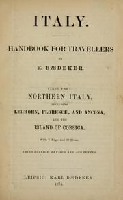 Cover of: Italy : handbook for travellers | Karl Baedeker (Firm)