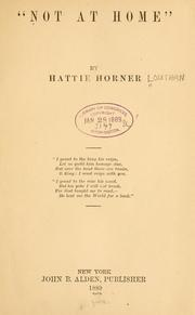 Cover of: Not at home. | Horner, Hattie