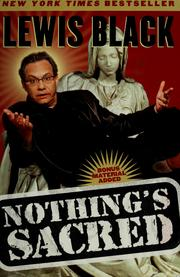 Cover of: Nothing's sacred | Lewis Black