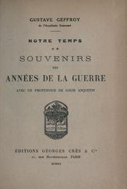 Cover of: Notre temps