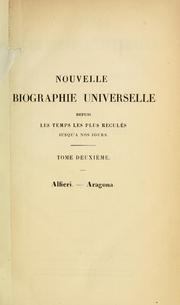 Cover of: Nouvelle biographie universelle by publiée sous la direction de m. le dr. Hoefer.