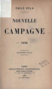 Cover of: Nouvelle campagne, 1896 by Émile Zola