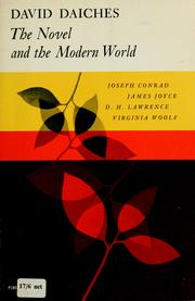 Cover of: The novel and the modern world