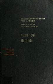 Cover of: Numerical methods | Germund Dahlquist