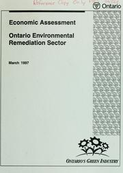 Economic assessment by Ontario. Ministry of Environment and Energy.