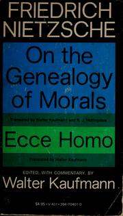 Cover of: On the genealogy of morals. | Friedrich Nietzsche