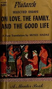 Cover of: On love, the family, and the good life | Plutarch
