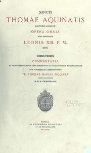 Cover of: Opera omnia, iussu impensaque Leonis XIII. P.M. edita. by Thomas Aquinas