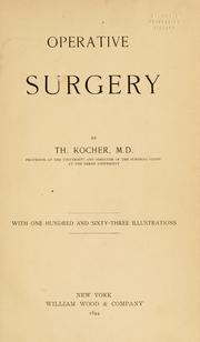 Cover of: Operative surgery | Theodor Kocher