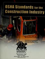 OSHA standards for the construction industry (29 CFR part 1926