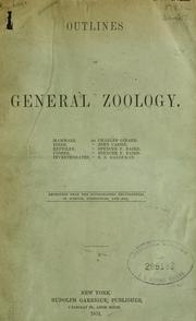 Cover of: Outlines of general zoology. |