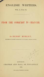 Cover of: English writers | Henry Morley