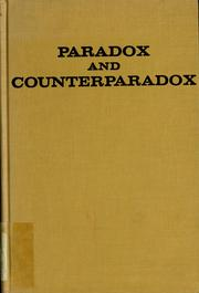 Cover of: Paradox and counterparadox | Mara Selvini Palazzoli ... [et al.] ; translated by Elisabeth V. Burt.