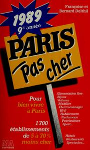 Cover of: Paris pas cher | Françoise Delthil