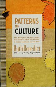 ruth benedict the individual and pattern of culture Ruth benedict : the individual and the pattern of culture academic essay nteract with the two texts as you write your paper, quoting to support your ideas as well as to initiate new discussion in answer to the question.