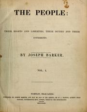 Cover of: The People | Joseph Barker